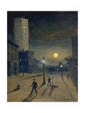 New York at Night Giclee Print by Louis Michel Eilshemius