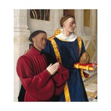 Etienne Chevalier with St. Stephen Giclee Print by Jean Fouquet