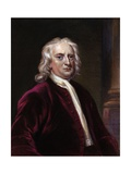 Portrait of Sir Isaac Newton Giclee Print by Edward Scriven