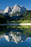 Mount Prisojnik (2,547M) with Reflection in a Small Pond , Kranjska Gora, Triglav Np, Slovenia Photographic Print by  Zupanc