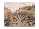 Boulevard Montmartre, Paris Reproduction procédé giclée par Camille Pissarro