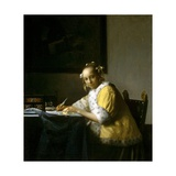 A Lady Writing a Letter Giclee Print by Jan Vermeer