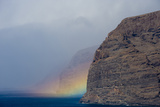 Acantilado De Los Gigantes (Giant's Cliffs) with a Rainbow over the Sea, Tenerife, Canary Islands Photographic Print by Relanzón