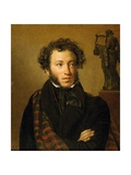 Portrait of A. S. Pushkin Giclee Print by Orest Adamovich Kiprensky