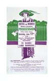 1911 Handbill Advertising the Women's Coronation Procession Giclee Print