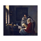 Girl Interrupted in Her Music Giclee Print by Jan Vermeer