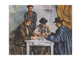 The Card Players Giclée-tryk af Paul Cézanne