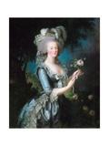 Marie-Antoinette with a Rose Giclée-Druck von Elisabeth Vigee-Lebrun