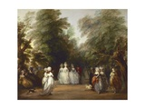 The Mall in St. James's Park Giclee Print by Thomas Gainsborough