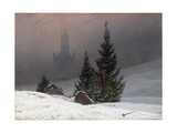 Winter Landscape Giclee Print by Caspar David Friedrich
