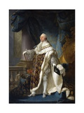 Louis XVI, King of France and Navarre, Wearing His Grand Royal Costume in 1779 Giclee Print by Antoine Francois Callet