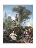 The Progress of Love: the Rendezvous Giclée-Druck von Jean-Honoré Fragonard