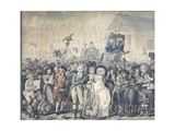 Detail of Westminster Election of 1788 Giclee Print by Robert Dighton