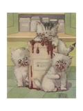 Kittens Eating Jam Giclee Print