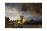 The Stone Bridge Giclee Print by  Rembrandt van Rijn