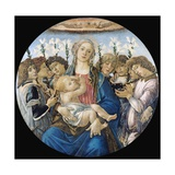 Virgin and Child with Eight Angels Giclee Print by Sandro Botticelli