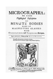 Title Page from Micrographia Giclee Print by Robert Hooke