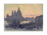 The Gold Moon (Venice: View of Santa Maria Delle Salute from Il Redentore) Giclee Print by Joseph Pennell