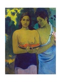 Two Tahitian Women Giclee Print by Paul Gauguin