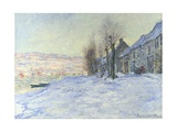 Lavacourt under Snow Giclee Print by Claude Monet