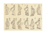 Priests Giclee Print by Katsushika Hokusai