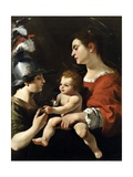 The Virgin and the Child with St. Michael Giclée-tryk af Rutilio Manetti