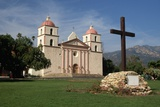 Mission Santa Barbara after 1996 Restoration Photographic Print by Bob Rowan
