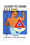 Learn to Swim for Safety, Fun and Fitness Poster Giclee Print