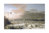 The Frozen Thames Giclee Print by Abraham Hondius