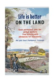 Life Is Better on the Land Poster Giclee Print