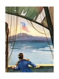 American Flag Flying over Fort Mchenry Giclee Print