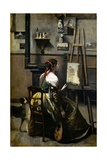 The Artist's Studio Giclee Print by Jean-Baptiste-Camille Corot