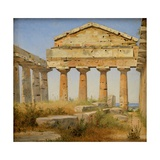 The Temple of Athena, Paestum Giclee Print by Constantin Hansen