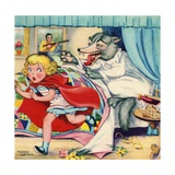 Big Bad Wolf Attacking Little Red Riding Hood Giclee Print