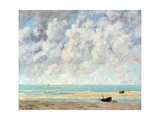 The Calm Sea Reproduction procédé giclée par Gustave Courbet