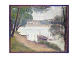 Gray Weather, Grand Jatte Giclee Print by Georges Seurat
