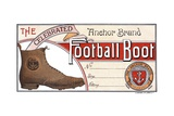 Advertisement for Anchor Brand Football Boots Giclee Print