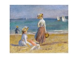 Figures on the Beach Giclee Print by Pierre-Auguste Renoir