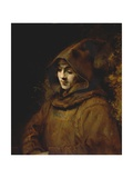 Portrait of Rembrandt's Son Titus, Dressed as a Monk Giclee Print by  Rembrandt van Rijn