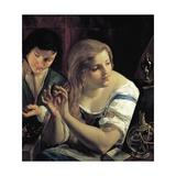 Allegory of Vanity Giclee Print by Angelo Caroselli