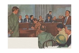 Alger Hiss before House Un-American Activities Committee Giclee Print
