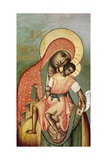 Icon of the Virgin Eleousa of Kykkos Giclee Print by Simon Ushakov