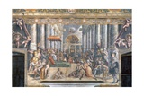The Donation of Constantine Giclee Print by  Raphael