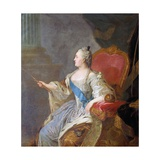 Portrait of Catherine II Giclee Print by Fyodor Rokotov