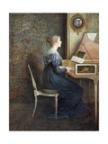 An Old Song Giclee Print by William J. Hennessy