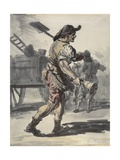A London Coalman Giclee Print by Paul Sandby