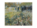 Woman with a Parasol in a Garden Giclee Print by Pierre-Auguste Renoir