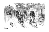 British Cycle Club Out for a Country Ride Giclee Print