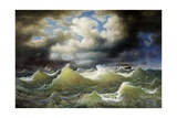 Steamboat on Stormy Water Giclee Print by Johan Knutson