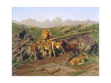 Weaning the Calves Giclee Print by Rosa Bonheur